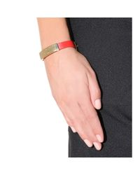 Marc By Marc Jacobs - Red Standard Supply Leather Bracelet - Lyst