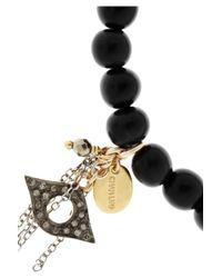 Chan Luu - Black Horn Diamond and Goldplated Silver Charm Bracelet - Lyst