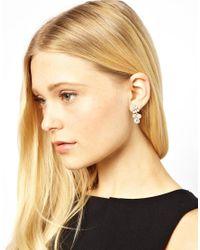 ASOS - Metallic Designsix Marsh Rhinestone Earrings - Lyst