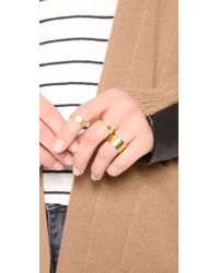 Gorjana - Metallic Camila Hammered Ring Set - Lyst