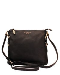Isaac Mizrahi New York | Black Evalyn Leather Crossbody Bag | Lyst