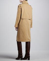 Michael Kors - Natural Macintosh Washed Cotton Broadcloth Coat - Lyst