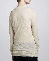 Michael Kors - White Biascut Crewneck Sweater - Lyst