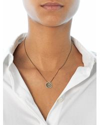 Susan Foster | Diamond Slice and Blackened Gold Necklace | Lyst