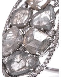Susan Foster | Metallic Diamond Slice and White Gold Ring | Lyst