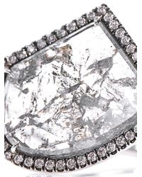 Susan Foster - Diamond, Platinum & Yellow-gold Ring - Lyst