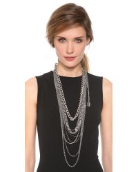 Tom Binns - Metallic Layered Chain Necklace - Lyst