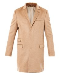 Trussardi | Brown Single-Breasted Camel Coat | Lyst