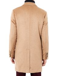 Trussardi   Brown Single-Breasted Camel Coat   Lyst