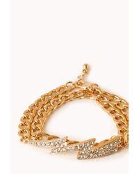 Forever 21 - Metallic High-Voltage Wraparound Bracelet - Lyst