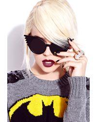 Forever 21 - Metallic Glam Girl Batman Ring - Lyst