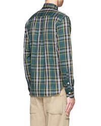 Maison Kitsuné - Blue Worker Check Shirt for Men - Lyst