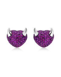 Theo Fennell | Purple Baby Devil Earrings | Lyst