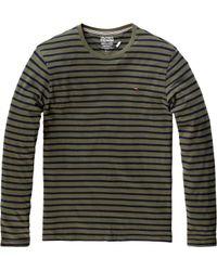 Tommy Hilfiger | Gray Hanson Long Sleeved Striped Tshirt for Men | Lyst