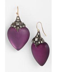 Alexis Bittar | Purple Lucite Santa Fe Deco Small Jewel Capped Drop Earrings | Lyst
