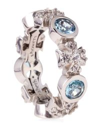 Elizabeth Showers - Blue Maltese Topaz and Sapphire Ring Size 7 - Lyst