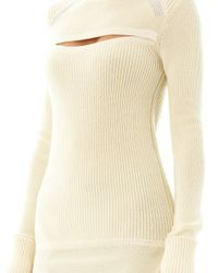 Isabel Marant - Natural Bolton Cut Away Wool Sweater - Lyst