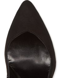Maje - Black Suede Vintage Court Shoes - Lyst