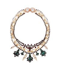 Mawi | Multicolor Triple Chain Crystal Necklace | Lyst