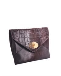 Mulberry - Purple Willow Pony Hair Clutch - Lyst