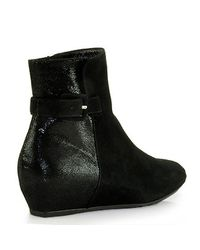 Pas De Rouge | Black F613 Lizard and Suede Bootie | Lyst