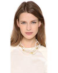 Tom Binns | White Looped Safety Pin Necklace | Lyst