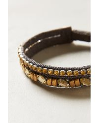 Anthropologie | Gray Sliced Abruzzo Bracelet | Lyst