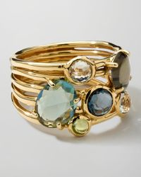 Ippolita - Metallic 18k Gold Rock Candy Gelato 6-stone Cluster Ring - Lyst