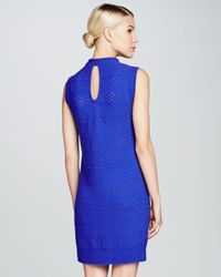 M Missoni - Blue Sleeveless Honeycomb Knit Dress - Lyst