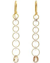Marie-hélène De Taillac - Metallic Brown Diamond Sapphire Silken Jute Earrings - Lyst