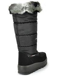 Pajar - Tobogan - Black Nylon Platform Winter Boot - Lyst