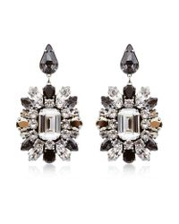 Swarovski | Metallic Oversized Crystal Earrings | Lyst