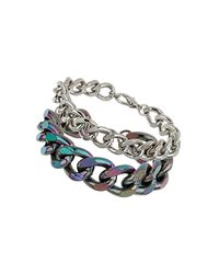 TOPSHOP | Multicolor Iridescent Mixed Multi Chain Bracelet | Lyst