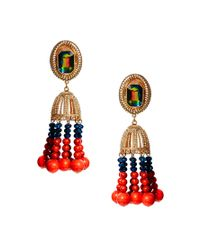 ASOS | Red Shamen Bell Tassle Earrings | Lyst