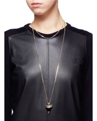 Givenchy - Metallic Shark Tooth Pendant Necklace - Lyst