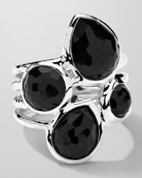 Ippolita | Metallic Sterling Silver Rock Candy 4-stone Ring In Black Onyx | Lyst