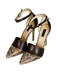 TOPSHOP - Black Gosh Hi Vamp Court Shoes - Lyst
