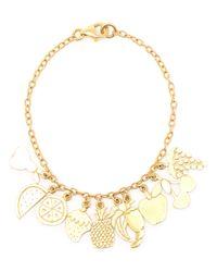 Carolina Bucci - Metallic 18k Yellow Gold Charm Bracelet - Lyst