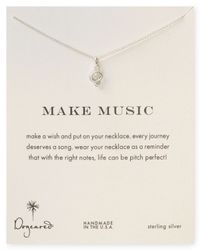 Dogeared | Metallic Sterling Silver Make Music Necklace 18 | Lyst