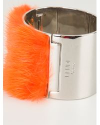 Fendi - Orange Fur Cuff - Lyst