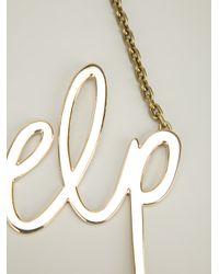 Lanvin | Metallic Help Necklace | Lyst