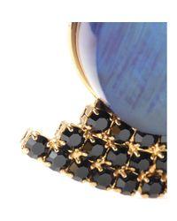 Marni - Blue Crystalembellished Horn Earrings - Lyst
