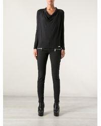 MICHAEL Michael Kors - Black Zip Detail Jeans - Lyst