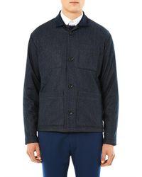 Patrik Ervell - Blue Patterned Wool Jacket for Men - Lyst