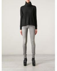 Ralph Lauren - Gray Ribbed Sweater - Lyst