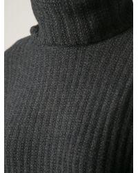 Ralph Lauren - Gray Ribbed Sweater - Lyst
