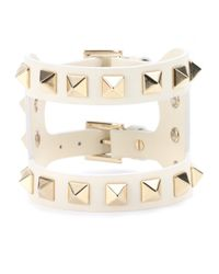 Valentino | Natural Va Va Voom Leather Bracelet | Lyst