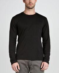 Ermenegildo Zegna | Soft Touch Longsleeve Tee Black for Men | Lyst