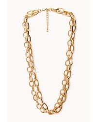 Forever 21 | Metallic Classic Layered Rolo Necklace | Lyst