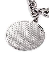 Givenchy - Gray Medallion Chain Bracelet - Lyst
